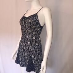 For Sale: Chic Navy Blue & Ivory Romper for $19