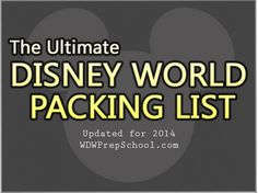 The ultimate Disney World packing list – Word, PDF and Google Docs formats