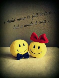 I didn't mean to fall in love...but you made it easy... #LoveQuotes #SmileyQuotes #CuteLoveQuotes #QuotesForCouples #ShortQuotes #Quotes #HappyQuotes #therandomvibez