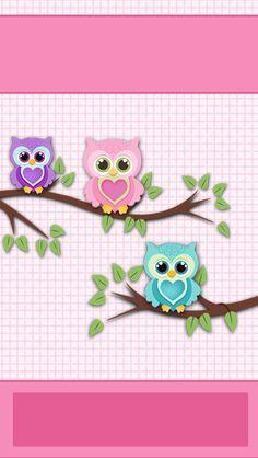 iBabyGirl Owl Pink Home Screen Wallpaper. Owl Clip Art, Owl Art, Decoupage Vintage, Owl Wallpaper, Iphone Wallpaper, Screen Wallpaper, Girls Quilts, Baby Quilts, Blogger Girl