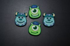 4pc Monsters Inc Jibbitz Charms fit Wristbands, shoe lace adapters & crocs in Clothing, Shoes & Accessories, Kids' Clothing, Shoes & Accs, Girls' Accessories | eBay