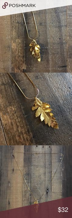 '80s / Gold Leaf Necklace 🍃 Gorgeous gold dipped leaf necklace. One of a kind. 24 inches long. Delicate and thin, actually feels like a real leaf! Other necklaces also for sale!  ⁂ Great bundle item! Two items = 20% off ☒ I do not model or trade, sorry! ❁ Check out my closet for more vintage! Vintage Jewelry Necklaces