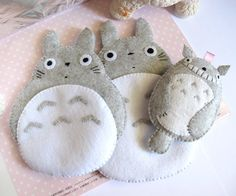 Totoro My Neighbour Big Cute Kawaii Pink by craftingwithlove, $25.00