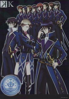 K~K Project shiny poster official Japan Munakata Reisi , Awashima Seri , Fushimi Saruhiko , Scepter 4