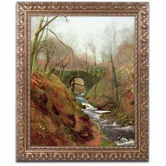 Trademark Fine Art March Morning by John Grimshaw, Gold Ornate Frame, Size: 11 x 14