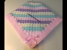 (1) How to Crochet Border Edge Trim as Rosa Crochets on her Baby Blanket - YouTube