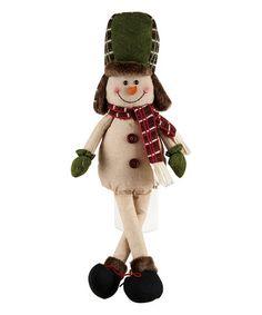 Another great find on #zulily! Plaid Snowman Shelf Sitter Plush #zulilyfinds