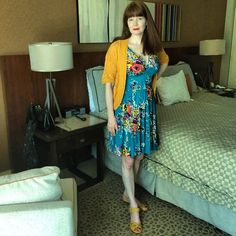 Life goal achieved: my pic was pinned on the Trashy Diva Pinterest board! I'm wearing their stunning Turquoise Floral Doris Middy Dress.