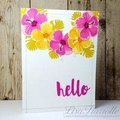 Beautiful layered stamping on this handmade card!
