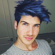 Image result for Mens blue hair