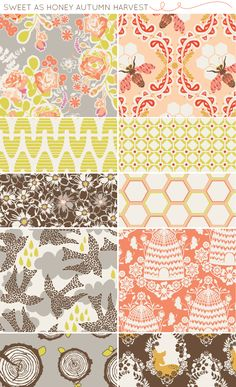 sweet as honey fabric collection by bonnie christine (the deer and tree stumps!)