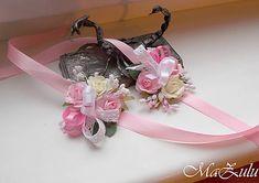 MaZulu / svadobné náramky pre najmenšie družičky Ribbon, Rose, Vintage, Tape, Pink, Band, Ribbon Hair Bows, Vintage Comics, Roses