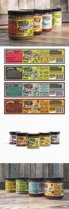 Sweet Farm Sauerkraut — The Dieline - Branding & Packaging Design Honey Packaging, Food Packaging Design, Bottle Packaging, Packaging Design Inspiration, Brand Packaging, Branding Design, Packaging Ideas, Design Poster, Graphic Design Print
