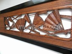 Japanese ranma, carved wood transom at www.Jcollector.com