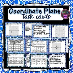 This resource contains 32 task cards that cover the following topics:Identify and label the axes and quadrants of a coordinate           planeIdentify the quadrant or the axis on which a point is locatedGraph ordered pairs in the four quadrants and on the axes of a        coordinate plane and identify the coordinatesRelate the coordinate of a point to the distance from each axis        and relate the coordinates of a single point to another point on        the same horizontal or vertical…