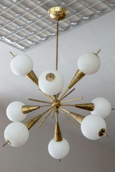 Stilnovo Sputnik Chandelier | From a unique collection of antique and modern chandeliers and pendants  at http://www.1stdibs.com/furniture/lighting/chandeliers-pendant-lights/