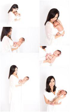 Family Centered Newborn Posing in Studio, Dallas Newborn Photographer, minimalist posing, natural baby poses