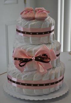 different way to make diaper cake