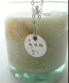 """Limited Edition Ethical Gift set for Mothers day £49 M English Summer candle www.mj-london.com Burns for over 30 hours and recycled LA Jewellery www.lajewellery.co.uk/ """"Mum"""" Necklace  all hand made in the UK!"""