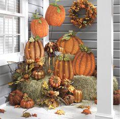 Fall / Thanksgiving porch / outdoor decor