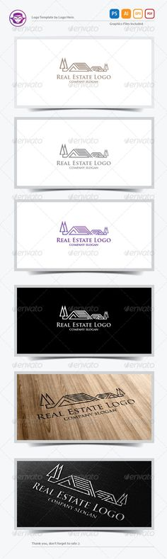 Real Estate Logo Design Template Vector #logotype Download it here:  http://graphicriver.net/item/real-estate-logo-template/6016661?s_rank=1102?ref=nexion