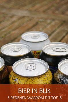 Bier in blik is echt tof, want het blijft langer vers, is makkelijker te transporteren, te koelen en daarnaast voor ons beter te recyclen. Tea Lights, Everything, Beer, Tea Light Candles