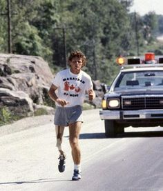 Terry Fox...I can still hear the sound of his running