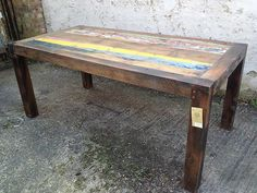 8 SEATER DINING TABLE SALE PRICE £499 (RECYCLED BOAT FURNITURE)  