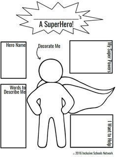 Super Hero Coloring Page Elegant Champions Of Inclusion isw Activities – Colorir. Superhero Preschool, Superhero Classroom Theme, Superhero Kids, Classroom Themes, Superhero Art Projects, Superheroes For Kids, Superhero Writing, Design Your Own Superhero, Create Your Superhero