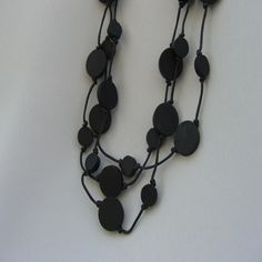 #ladybird2turtle #pinadayoct #black $30.00 Charlie Necklace by WhiteTigerDesigns on Handmade Australia