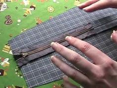 How to sew a zipper in a seam (video)