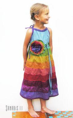 """Платье для девочки """"Колокольчик"""" ~ Sanabis ~ коллекция """"Дети радуги"""""""