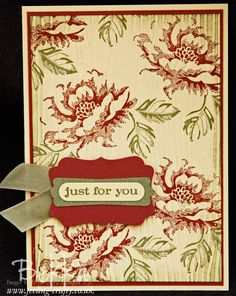 Stippled Blossom Card by Stampin Up! Demonstrator Bekka Prideaux - check out her classes - you get to make cards like this one along with several others featuring the same stamp set.  Brilliant!