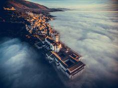 """Basilica of Saint Francis of Assisi, Umbria, Italy"""