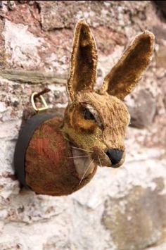 Faux Taxidermy Rabbit Head