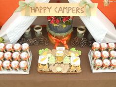 Camping wedding/baby shower!
