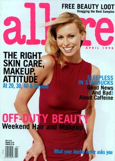 Niki Taylor Allure Magazine April 1998 by Sante D'Orazio Weekend Hair, Niki Taylor, Fashion Magazine Cover, Magazine Covers, Beauty And The Best, Model Magazine, Cover Model, Brigitte Bardot, Covergirl