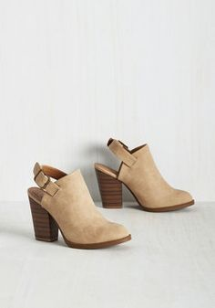 Charismatic Coffee Lover Bootie in Latte. Broadcast your passion for a brilliant brew by buckling into these cappuccino brown booties for a trip to the cafe! #tan #modcloth