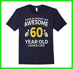 Mens 60th Birthday Gift Aged 60 Years T Shirt for Men or Women XL Navy - Birthday shirts (*Amazon Partner-Link)