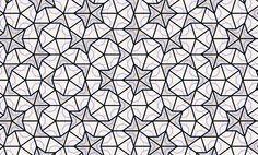 Penrose kite and dart tessellating shapes