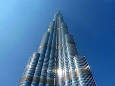A stunning bottom-up view of Burj Khalifa Dubai