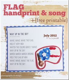 Fingers & Toes: flag handprint & song {mama♥miss}
