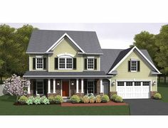 Colonial House Plan with 1775 Square Feet and 3 Bedrooms(s) from Dream Home Source | House Plan Code DHSW75153