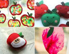 Apfel basteln für die Deko im Herbst mit diesen originellen Ideen