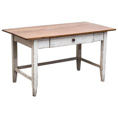 Pine and Beechwood Writing Table | From a unique collection of antique and modern desks and writing tables at https://www.1stdibs.com/furniture/tables/desks-writing-tables/