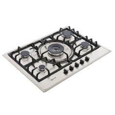 Buy Neff T25S56N0GB 5 Burner Gas Hob - Stainless Steel   Marks Electrical
