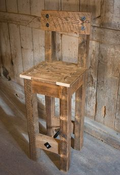 Timber House reclaimed furniture bar stool, via Flickr.