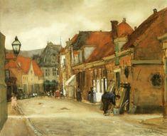 Floris Arntzenius - Straatje in Hoorn