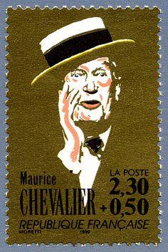 Zoom sur le timbre «Maurice Chevalier La chanson française»