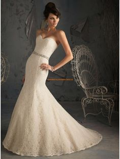 Mori Lee Meerjungfrau Lange Exklusive Brautkleider aus Spitze